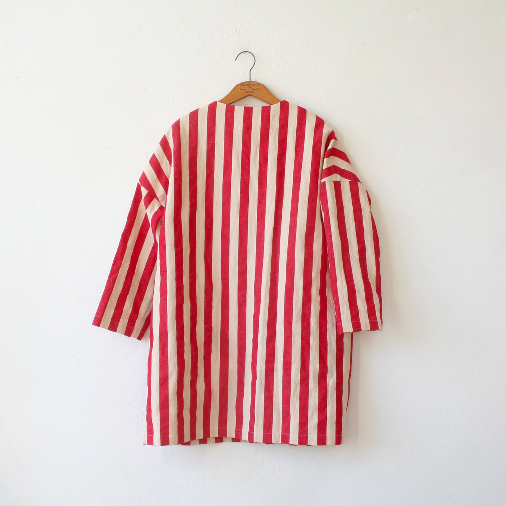 Apuntob Cotton Coat - Cherry Stripe