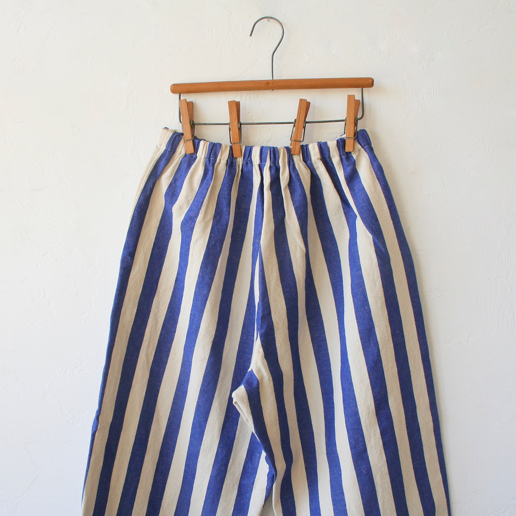 Apuntob Cotton Trousers - Electric Blue Stripe