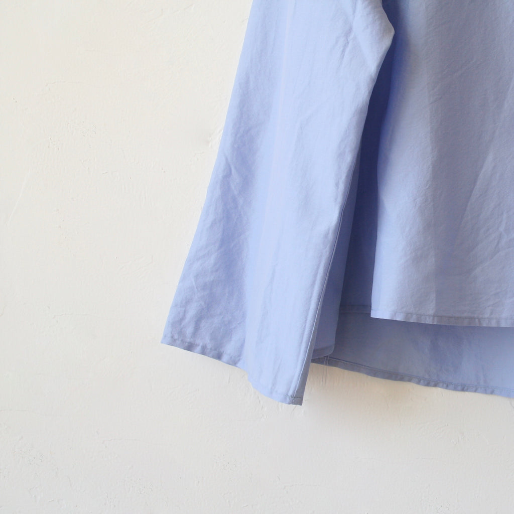 Apuntob Silk Cotton Shirt - Light Blue