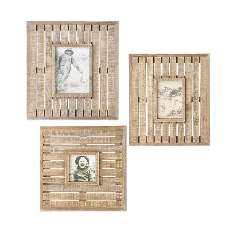 Wooden Lath Photo Frame
