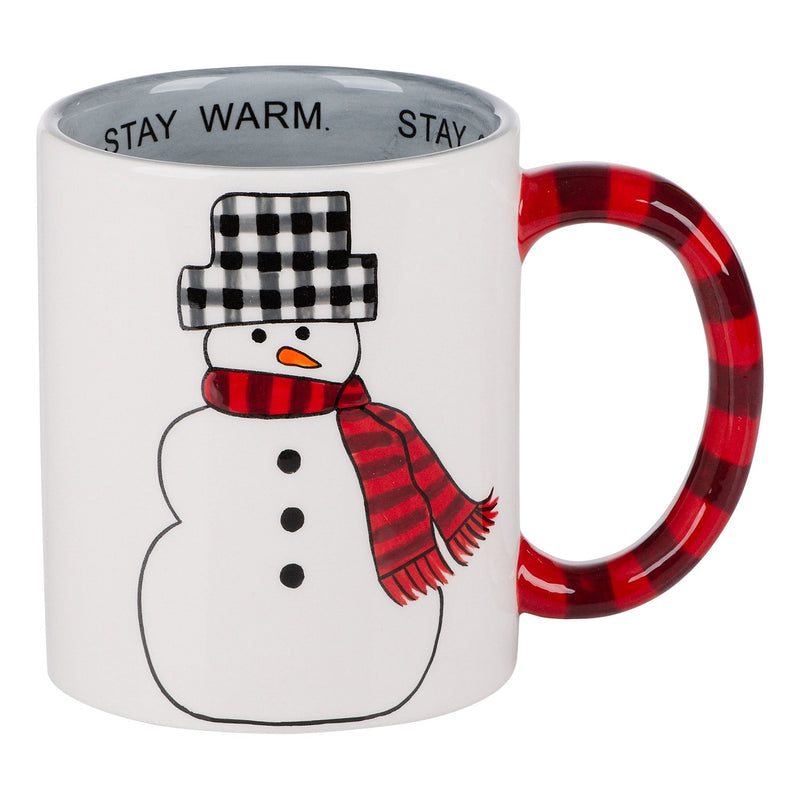 Stay Warm and Cozy Snowman Mug
