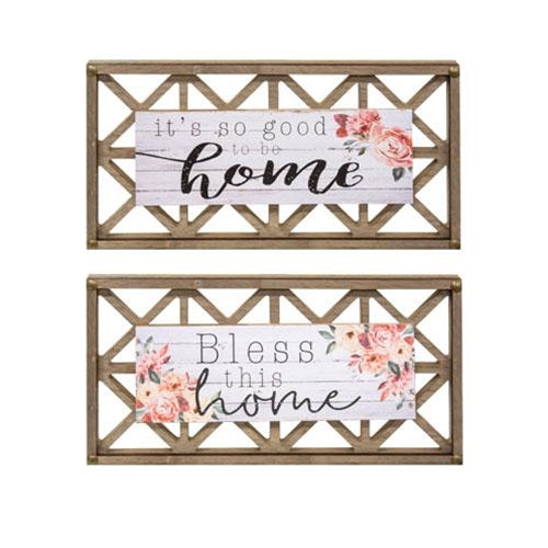 Home Blessings Lattice Sign