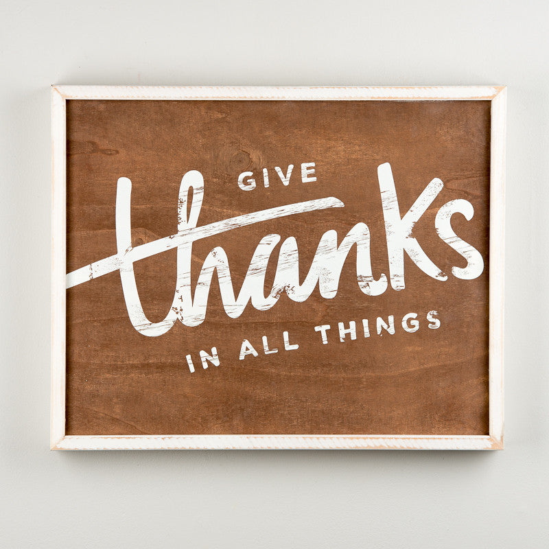 Give Thanks Framed Board