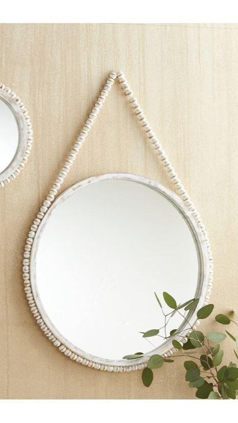 Hanging Beaded Mirror