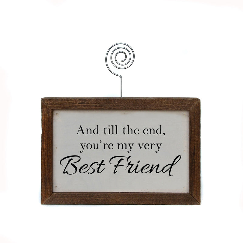 "6x4 ""Best Friends"" Tabletop Picture Frame Sign"