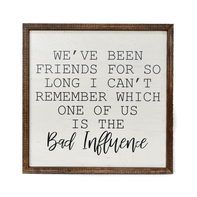"10x10 ""We've Been Friends For So Long"" Sign"