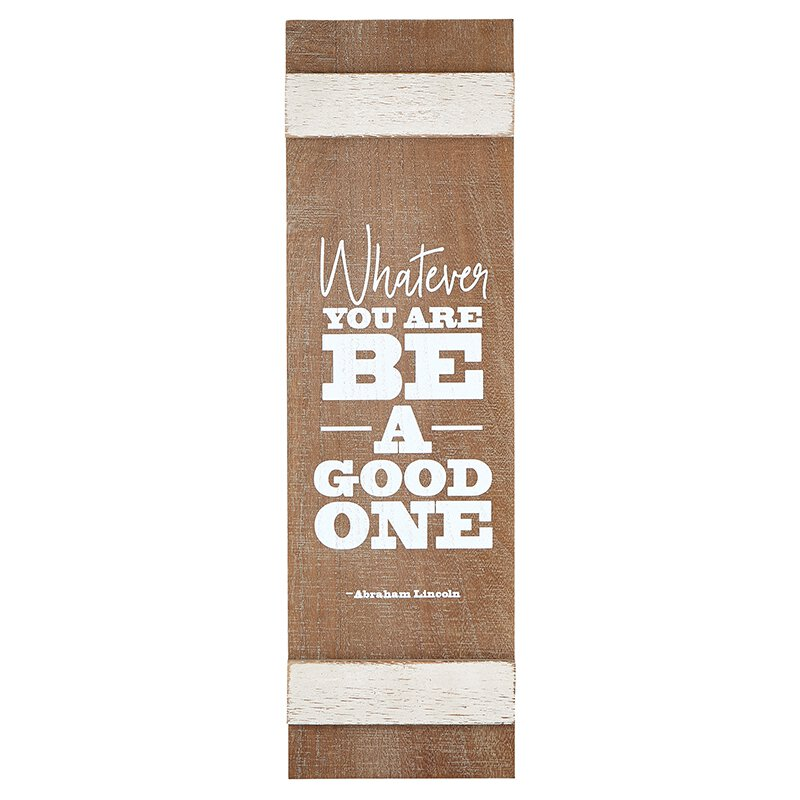 Wooden Plaque - Be Good