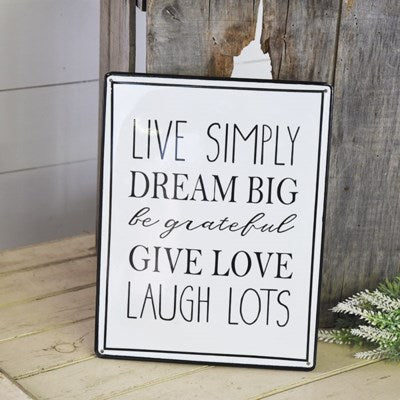 Live Simply Metal Sign