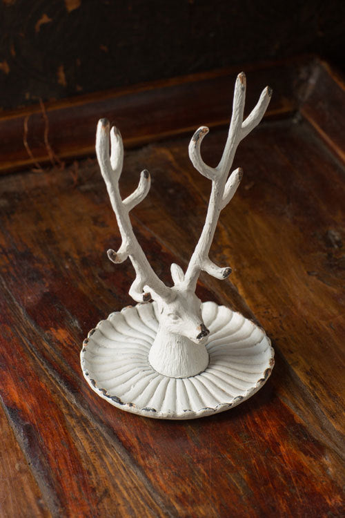 Buck Jewlery Holder -White