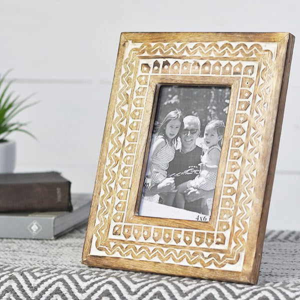 4 X 6 Pattern Wood Photo Frame