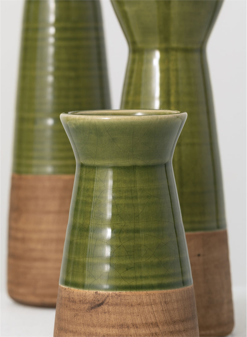 Copy of Green & Brown Ceramic Vase