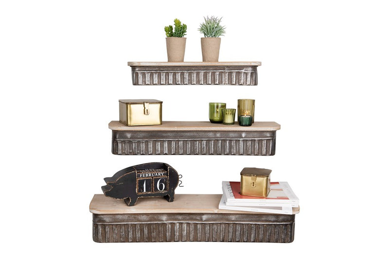 Metal & Wood Shelves