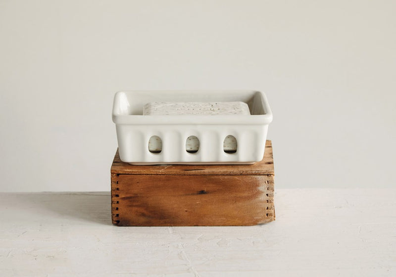Stoneware Berry Basket/Soap Dish
