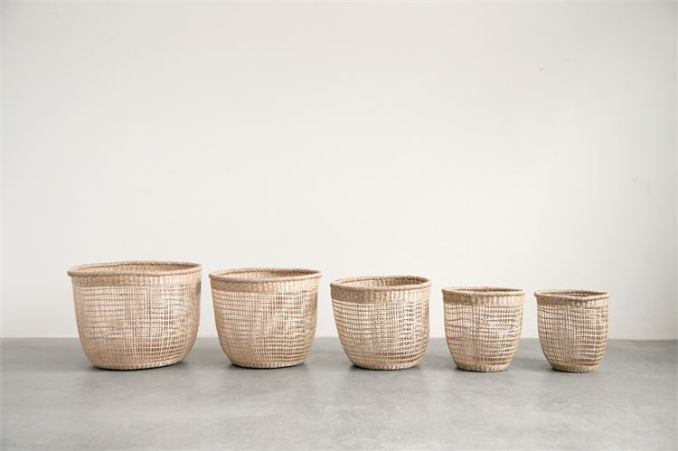 Round Hand Woven Natural Seagrass Basket