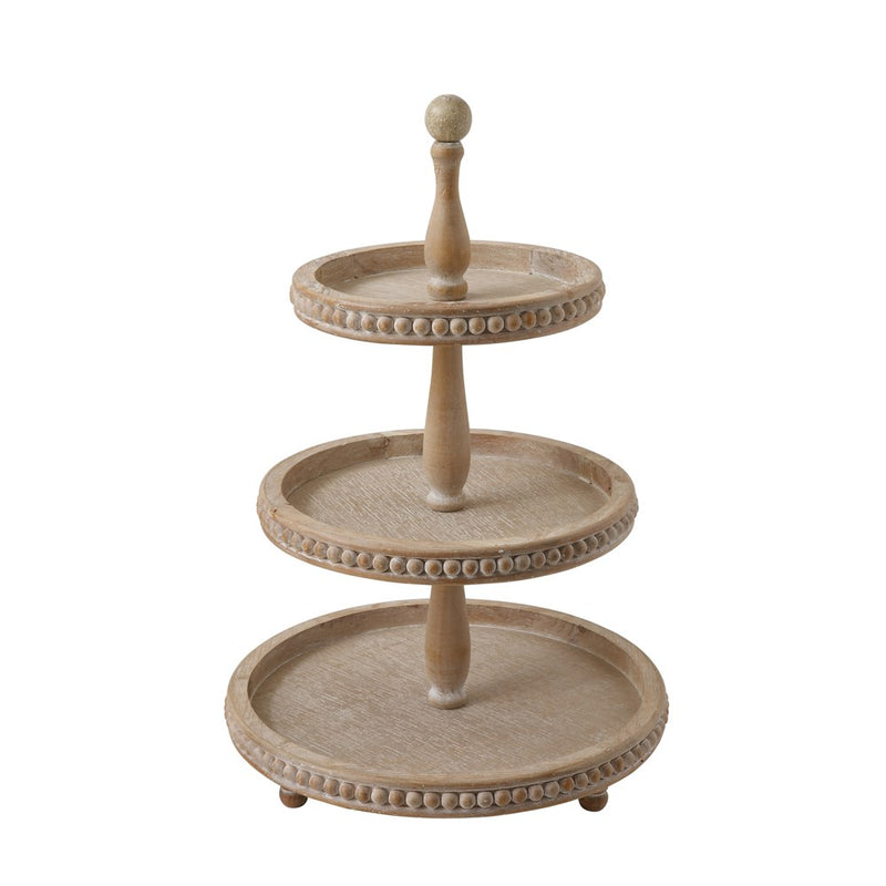 Wood 3-Tier Tray