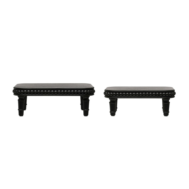 Decorative Wood Pedestals, Black
