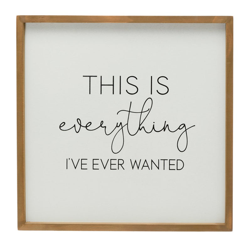 """This is Everything"" Wood Framed Wall Décor"