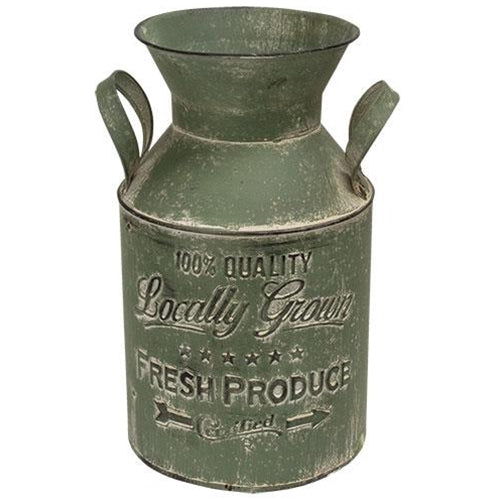 Locally Grown Green Milk Can