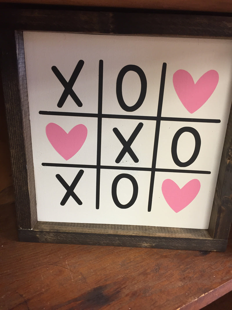 11x11 Tic Tac Toe Sign - White