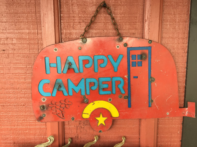 Happy Camper Metal Sign