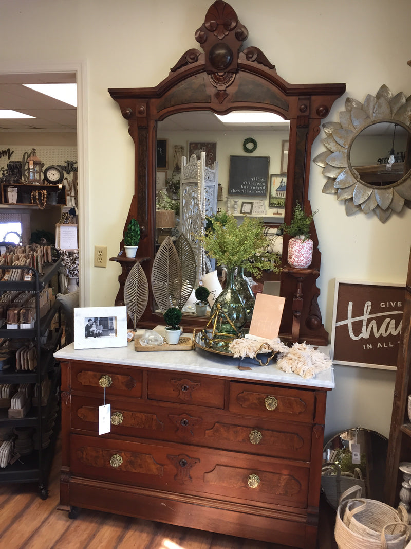 Gorgeous LARGE Dresser w Mirror Antique