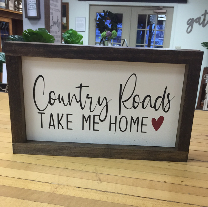 12x7 Country Road Sign