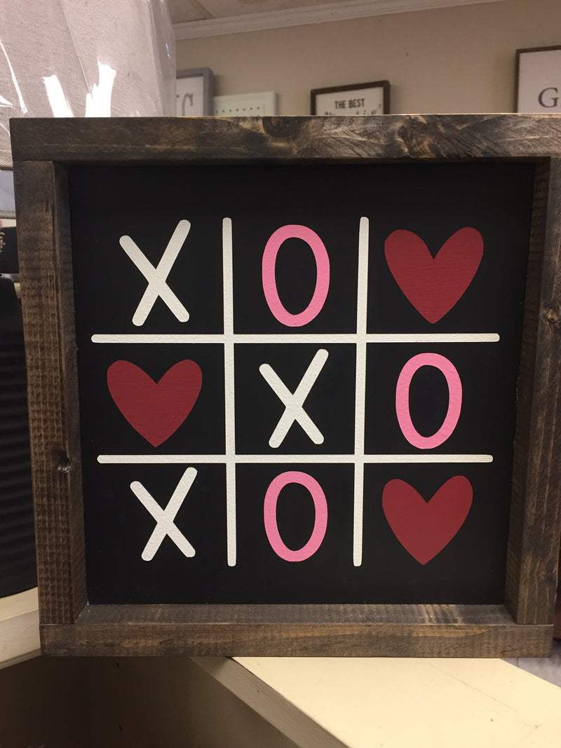 11x11 Tic Tac Toe Sign - Black