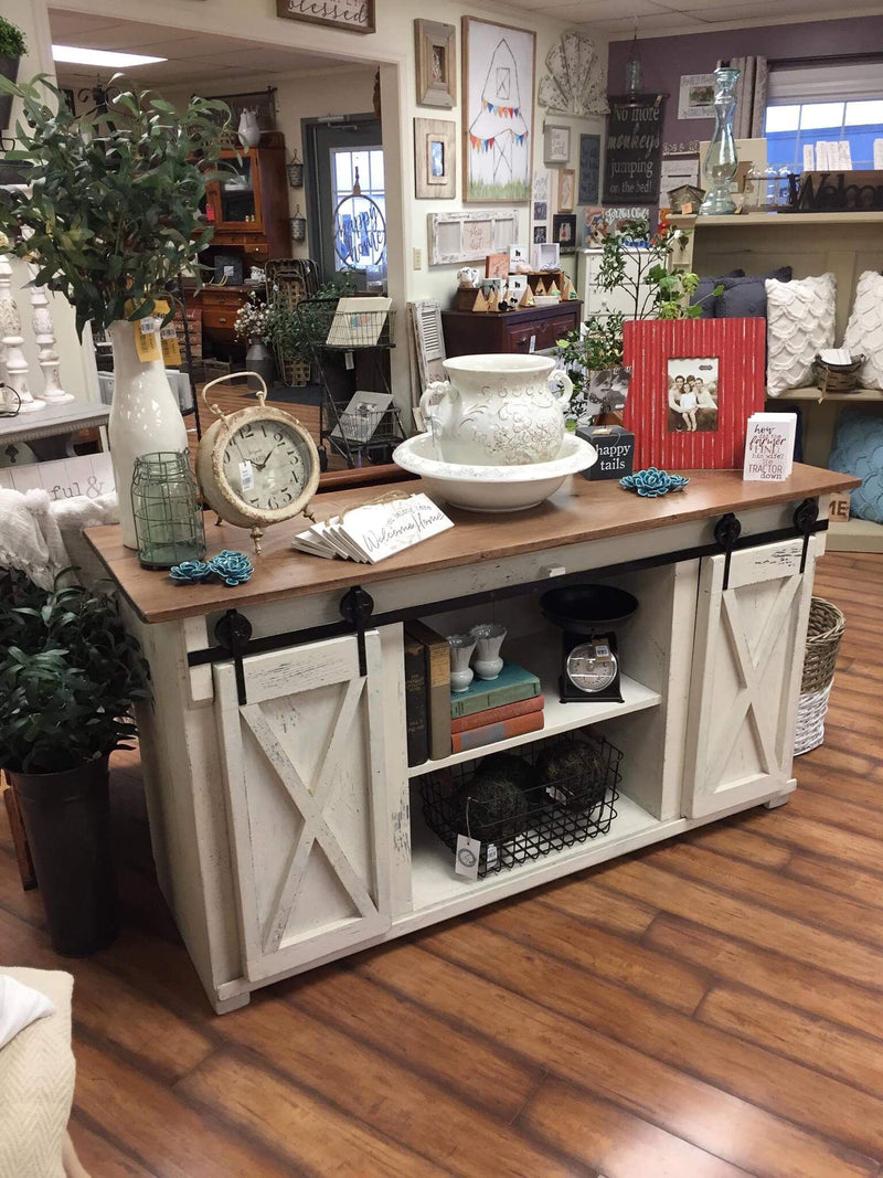 Amish Built Kitchen TV Stand / Cabinet