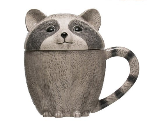 Stoneware Animal Covered Mug