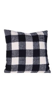 Plaid Brushed Cotton Pillow