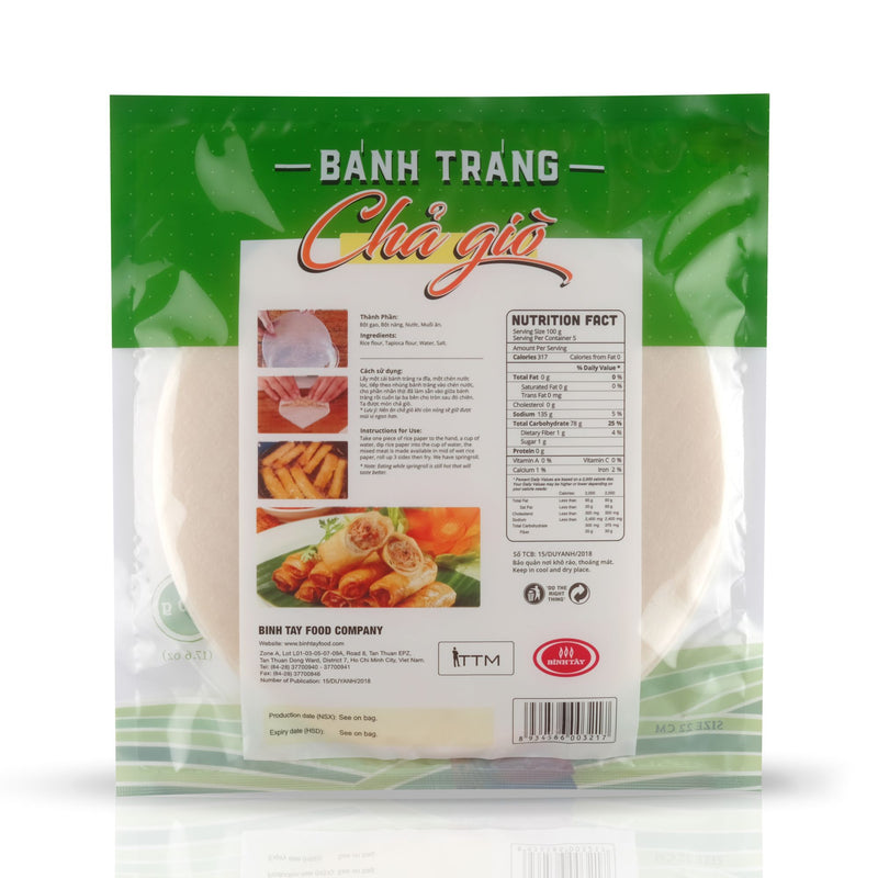 Egg Roll Rice Paper Banh Trang Cha Gio back