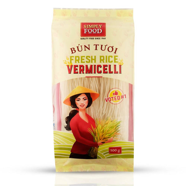 SimplyFood Authentic Premium Fresh Rice Vermicelli Front