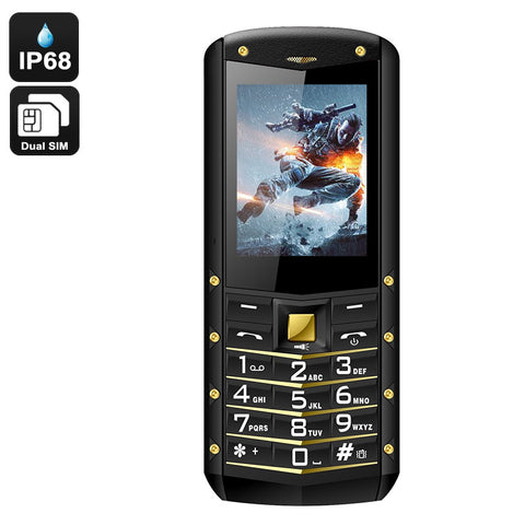 AGM M2 IP68 Rugged Phone - IP68 Rating, Dual SIM, Quad Band, 1970mAh Battery, Flashlight