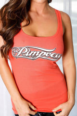 Pimpcess 2x1 lace back tank top