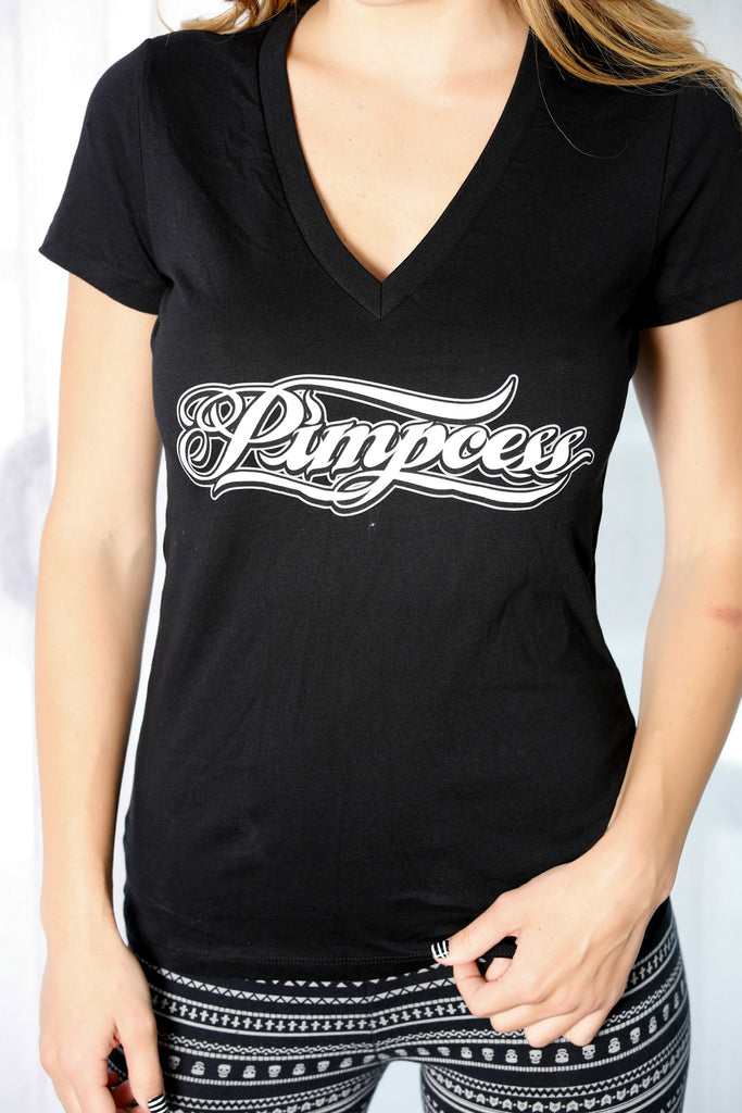 Pimpcess script Deep V-Neck