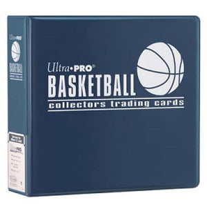 "Ultra PRO 3"" Blue Basketball Album Binder - Collector's Avenue"