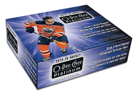2019-20 O-Pee-Chee Platinum Hockey Hobby Inner Case (8 Boxes) - Collector's Avenue