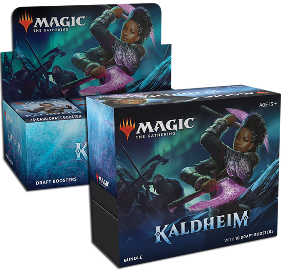 MTG Magic The Gathering Kaldheim (Draft Booster + Bundle) Combo