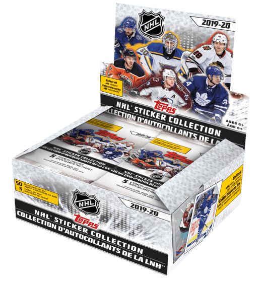 2019-20 Topps NHL Sticker Collection Hockey Box - Collector's Avenue