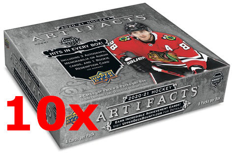 2020-21 Upper Deck Artifacts Hockey Hobby Inner Case (10 Boxes) - Collector's Avenue