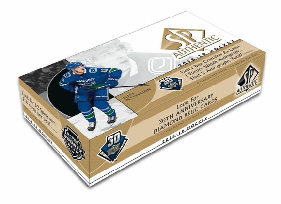 2018-19 Upper Deck SP Authentic Hockey Hobby Box - Collector's Avenue