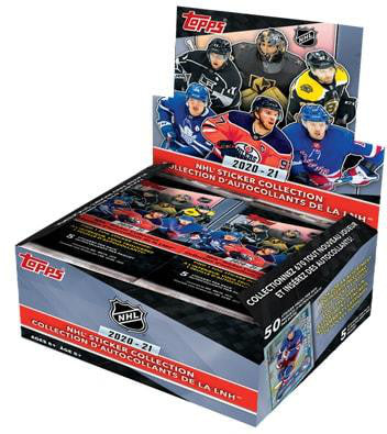 2020-21 Topps NHL Hockey Sticker Box - Collector's Avenue