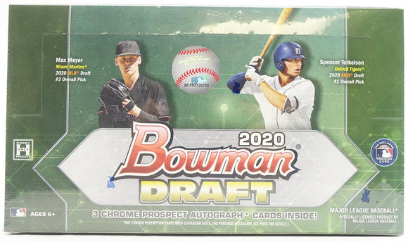 2020 Bowman Draft Baseball Hobby Jumbo Box - Collector's Avenue