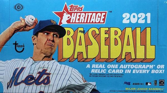 2021 Topps Heritage Baseball Hobby Box - Collector's Avenue