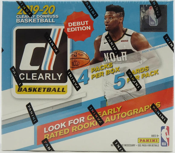 2019-20 Panini Clearly Donruss Basketball Hobby Box - Collector's Avenue