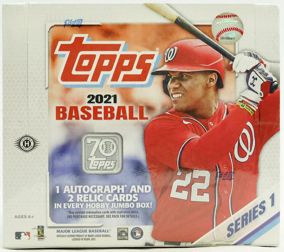 2021 Topps Series 1 Baseball Jumbo Box - Collector's Avenue
