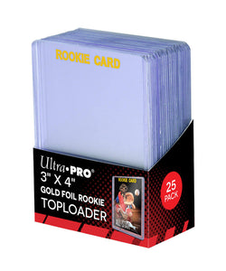 "Ultra Pro 3"" X 4"" Rookie Gold Toploader (25 count) - Collector's Avenue"