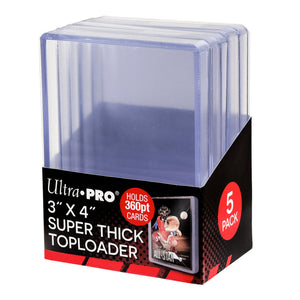 "Ultra Pro 3"" x 4"" Super Thick 360PT Toploader (5 count) - Collector's Avenue"