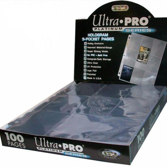 Ultra Pro Platinum 9-Pocket Pages (100 Count Box) - Collector's Avenue