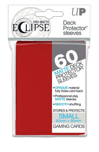 Ultra PRO Small Deck Protectors 60ct - Pro Matte Eclipse - Apple Red - Collector's Avenue